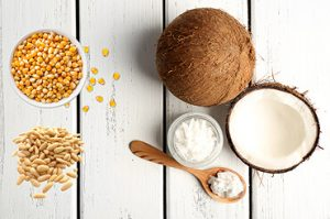 Coconut, Corn, Pine nut, Sesame